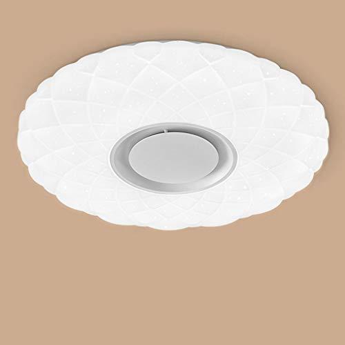 24 W sterrenhemel plafondlamp LED met afstandsbediening dimbaar kleurwisseling, Bluetooth luidspreker muziek plafondlamp, voor kinderkamer slaapkamer eetkamer woonkamer studie plafondverlichting Ø39cm
