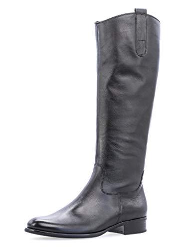 Gabor Damen Stiefel 31.648, Frauen Stiefel,Boots,Lederstiefel,Reißverschluss,schwarz,39 EU / 6 UK