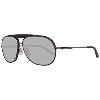 Dsquared2 Unisex Adult Sunglasses Dq 0074 96J Green Leather And Gunmetal Size 61