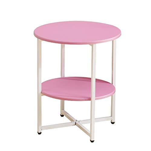 LICHUAN Mesa de centro simple de mesa auxiliar de mesa auxiliar extraíble pequeña mesa de centro simple mesa de esquina para sala de estar, dormitorio, mesa auxiliar pequeña (color: E)