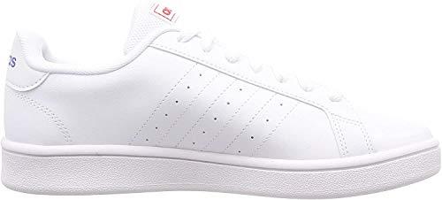adidas Herren Grand Court Base Tennisschuh, FTWR White Blue Active Red, 43 1/3 EU