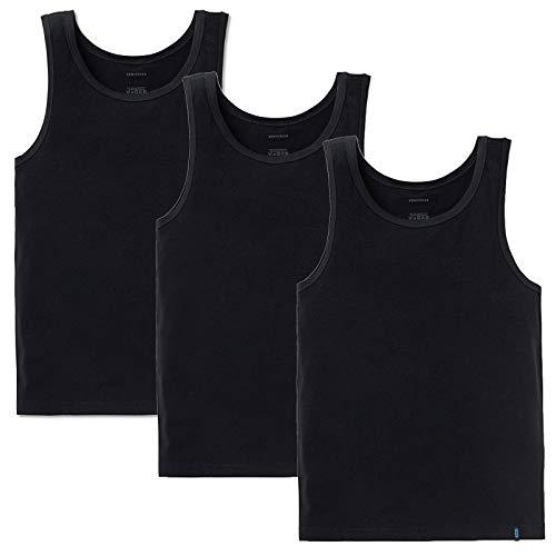 Schiesser 95/5 Unterhemd 3er Pack Black 2XL