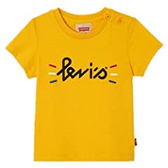 Levi's Camiseta de Manga Corta Color Amarillo para Niño