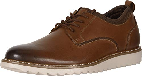 Dockers Mens Elon Leather Smart Series Dress Casual Oxford Shoe, Tan, 11 M