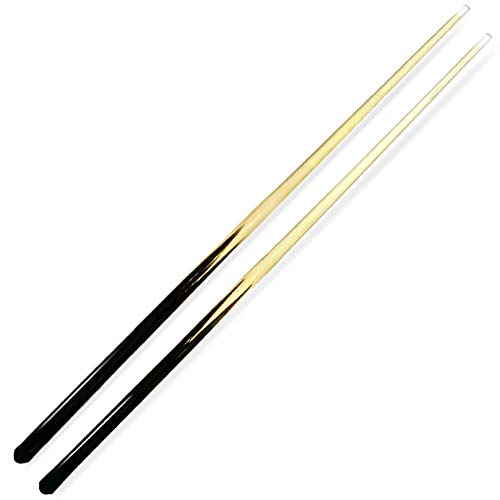 ISPIRITO Pool Cues 1-Piece 36  Shorty Cues Children s Cues Kids Billiard House Cue Stick Hardwood 13mm Glue-on Tips, Set of 2