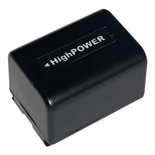 NP-FV5 Plus Rechargeable Camcorder Battery 3.7V 2000mAh Battery for Sony DV for Andoer 524KM 4K WiFi 1080P Digital Video Camera (2000mAh, Black)
