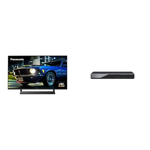 Panasonic TX-40HX800BZ 40 Inch 4K Multi HDR LED LCD Smart TV with Dolby Vision, Dolby Atmos, Freeview Play (2020) + DVD-S700EB-K DVD Player with Multi Format Playback