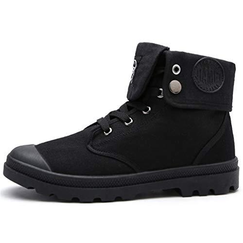 Hombres Botas Hombre Desierto Trabajo Tobillo Botas Caza Lona Zapatos De Moto