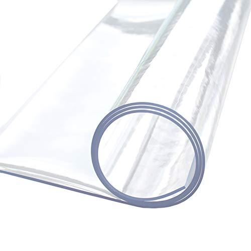 ETZBQ 0.5mm Protector Suelo Silla Ruedas, Alfombrilla De PVC Transparente para Silla, Protector De Alfombra para Piso, Antideslizante, Cubierta Protectora para El Piso(140x180cm/55.12x70.87in)