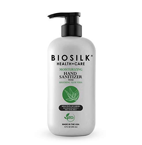 BioSilk Moisturizing Hand Sanitizer With Soothing Aloe Vera,...