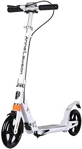 Scooter Scooter plegable Patines de patada para adultos con freno de mano,...