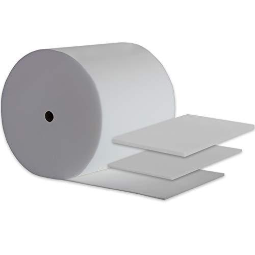 Ventadecolchones - Plancha de Espuma para Tapizar de 100 x 200 cm y 4 cm de Grosor - Dureza ExtraFirme Densidad 25 Kg/m3