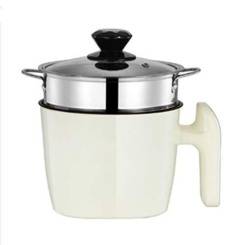 CHQY Pot de Gril antiadhésif, Mini appareils à Vapeur en Acier Inoxydable, cuisinière à Riz préréglée Intelligente, pour Cuire Le Riz à Soupe de Soupe à Soupe d'œuf à la Beige-Smart