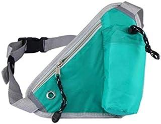Running Belt Hydration Waist Pack with Water Bottle Holder for Men Women Waist Pouch Fanny Bag Reflective Fits iPhone 6/7 Plus Green