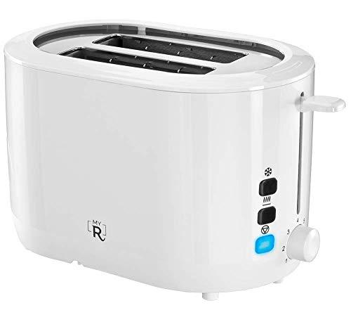 My Routine Toaster Weiß I Doppelschlitz | 7 Stufen | 840 W | Brötchenaufsatz