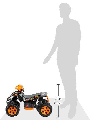 JAMARA 460247 - Ride-on Quad Pico 6V - leistungsstarker Antriebsmotor und Akku für lange Fahrzeit, Ultra-Gripp Gummiring am Antriebsrad, Gaspedal, Tragegriff, Motorsound am Lenker