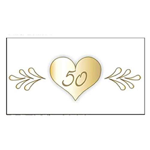 20 PZ Bigliettini bigliettino bomboniera NOZZE D ORO 50 anni matrimonio