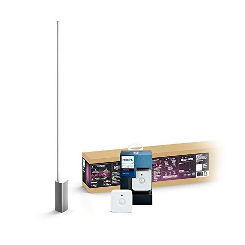Philips Hue White & Col. Amb. LED Stehleuchte Signe, dimmbar, 16 Mio. Farben, steuerbar via App, + Bewegungssensor intelligenter Bewegungsmelder integrierter Tageslichtsensor Zubehör