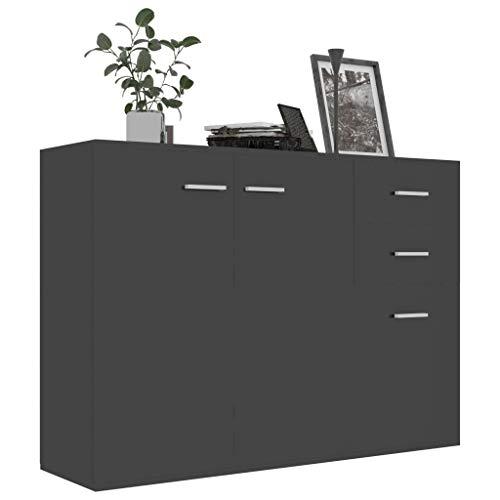 Irfora Credenza Soggiorno, Madia Moderna, Mobile Ingresso Moderno, con Cassetti, in Truciolato 105x30x75 cm