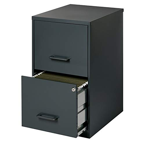 Scranton & Co 2 Drawer Letter File Cabinet in Black