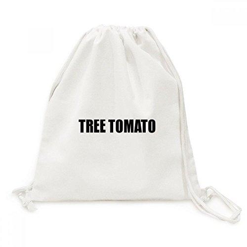 DIYthinker Baumtomate Obst Namen Foods Canvas-Rucksack-Reisen Shopping Bags