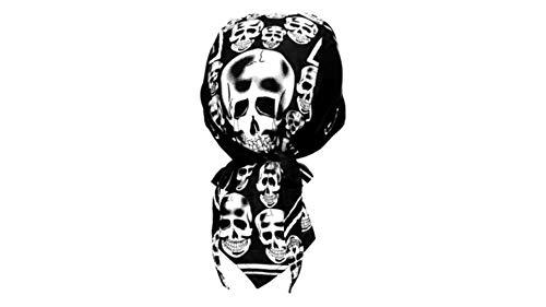 Bandana Cap Rocker Skull, Kopftuch mit Totenköpfen Rocker, Bandana Headscarf with Skulls,Pañuelo pañuelo Con Calaveras,Foulard Bandana Avec des crânes