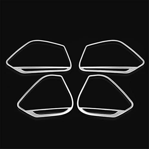 ASHDelk Accesorios de Coche 4 Uds, Puerta de Acero Inoxidable, Altavoz Inferior, decorador, Marco, Cubierta, embellecedor, para Audi A5 2018 y A4 B9 2017-2018