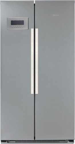 Bauknecht KSN 495/1 IO Side-by-Side / A+ / Kühlen: 335 L / Gefrieren: 207 L / Edelstahloptik / Hygiene+ Filter / Antibakterieller Microban-Filter