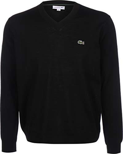 Lacoste Herren AH2181 Pullover V-Ausschnitt, Sweater Pulli Strickpullover Strickpulli Oberteil Langarm einfarbig Uni klassisch,Black (031),XS (2)
