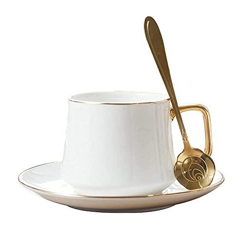 Filiżanka kawy i spodek zestaw ceramicznych popołudniowa herbata kubek wody kubek ekspres do kawy latte cappuccino kubek home biura gorące kakao mleka kubek