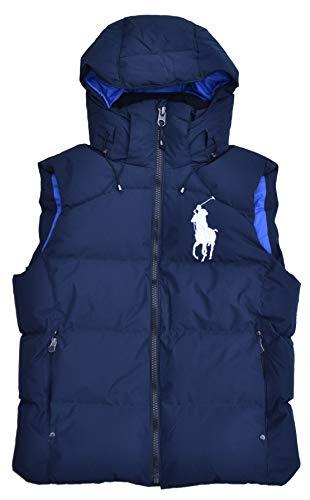 Ralph Lauren Tyrol - Chaleco acolchado con capucha para hombre, color azul Azul / Aviator Navy XXL