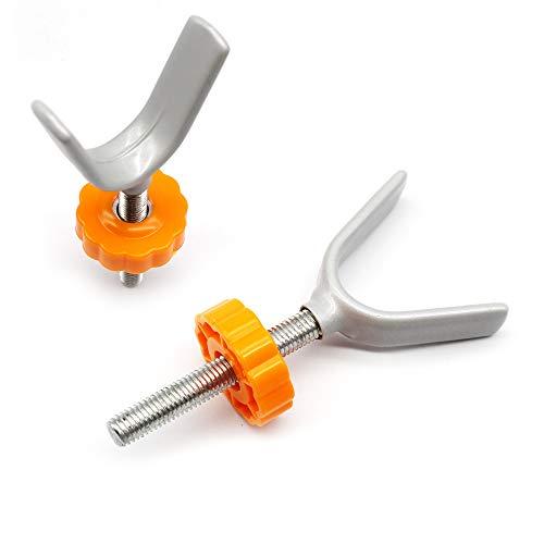 FUJIE 2 Stück Y-Spindel Druckschrauben für Kindergitter oder Gitter Haustier Baby Gate Screw Bolts Drucktore Gewindespindelstangen Schrauben Kit für Treppengitter, M10 x 10 mm