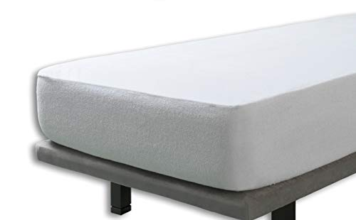 Velfont Waterproof and Breathable Terry Towelling Cotton Cot Bed Size Mattress Protector, 60 x 120cm
