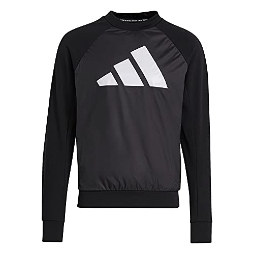 adidas Herren M Fi Tt Q1 Pullover, Schwarz, S EU