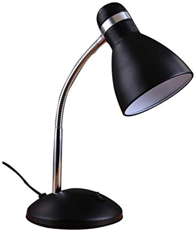 Skoy iyue Schlafzimmertischlampe-Wohnzimmerschlafzimmer Einfaches Modernes Nachttischbürolernen,Dimmerswitch-schwarz