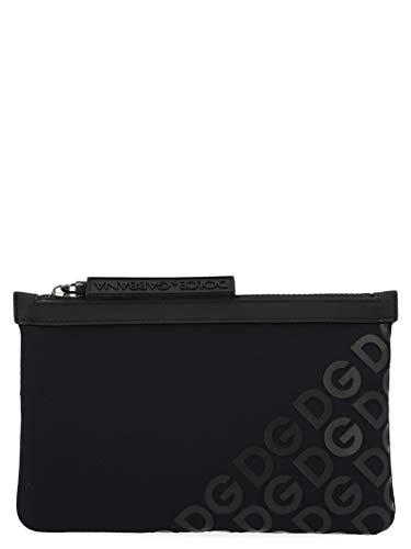 Moda De Lujo | Dolce E Gabbana Hombre BM1730AJ772HNNDN Negro Fibras Sintéticas Riñonera | Temporada Outlet