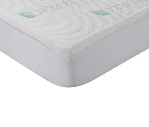 Classic Blanc - Topper viscoelástico de Tencel® Hípertranspirable 4cm de gran confort con funda lavable y parte inferior antideslizante