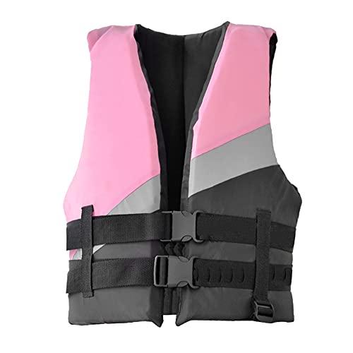 CYzpf Chaleco Salvavidas Adulto Flotación Portátil Ayuda de la Nadada Vest Flotabilidad Equipamiento para Deportes Acuáticos Kayak Canotaje Snorkel,Pink,XL