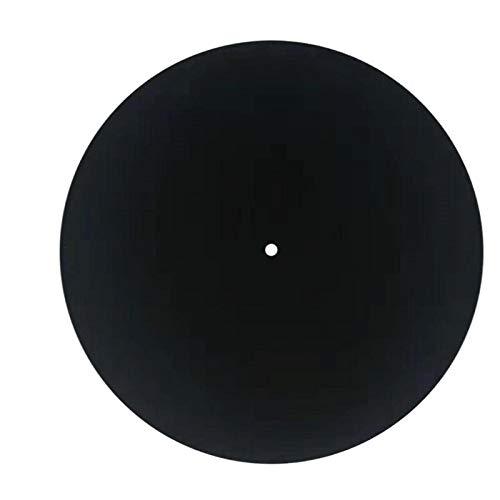 Tappetino per Disco Nero in Feltro da 25,4 cm per Giradischi Fonografici in Vinile 3 mm Antistatico