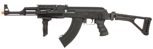 Soft Air Kalishnikov AK47 Electric Powered Full Metal Airsoft Rifle with Adjustable Hop-Up, 390-430 FPS