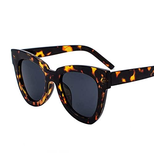 AMFG Mujeres polarizadas Hombres Square Gafas de sol UV400 Protección Brillante Marco Damas Diseñador Sunglasses Retro Viajes Outdoor Driving Gafas (Color : B)