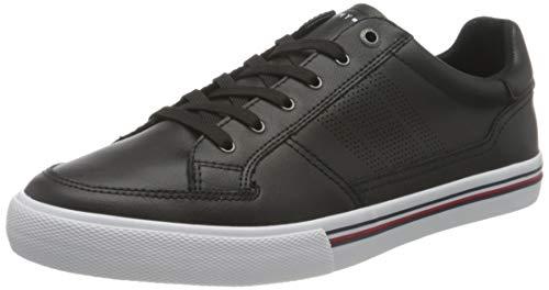 Tommy Hilfiger Core Corporate Leather Sneaker, Scarpe da Ginnastica Uomo, Nero, 43 EU