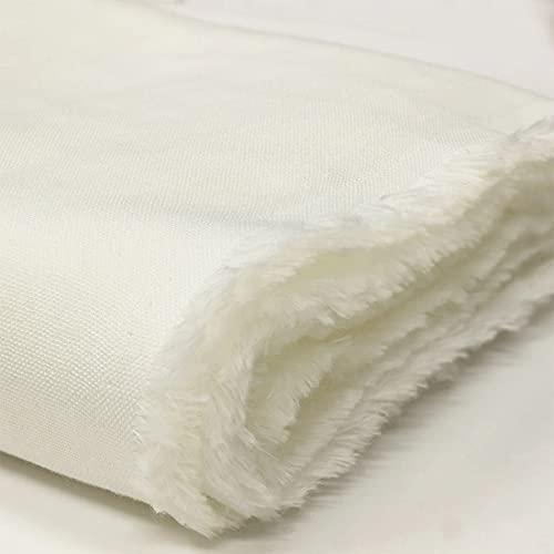 柔らかくとってもなめらか!日本製コットンシルク綿絹ダブルガーゼ生地ホワイト1m