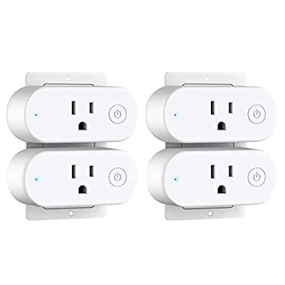 Save 40% on Aoycocr 15A Mini Smart Plug with Energy Monitoring (4-Pack)