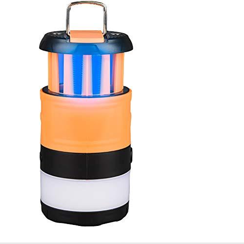 WOTR Bug Zapper Interior y Exterior, Asesino electrónico de Insectos, Linterna Anti-Mosquito de la lámpara de Doble Uso, Colgantes/portátil, Conveniente para Acampar/Interior/Exterior/Barbacoa