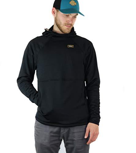 Men's Polartec Fleece Sweatshirt, Black Pullover Hoodie for Men (Made in USA)