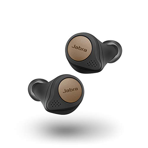 Jabra Elite Active 75t Earbuds – True Wireless Earbuds with Charging Case, Copper Black