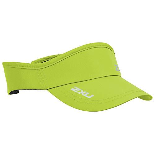 2XU Run Visor Wild Lime - Leichter, atmungsaktiver UV-Sonnenschutz und SPF-Eigenschaften - Unisex - Leicht und atmungsaktiv
