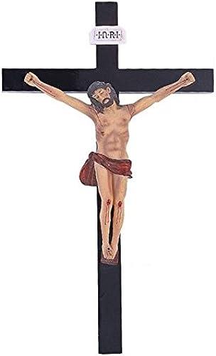 StealStreet ss-g-259, 14Inch Jesús Cruz Crucifixión Madera Santa Religiosa decoración de la Parojo