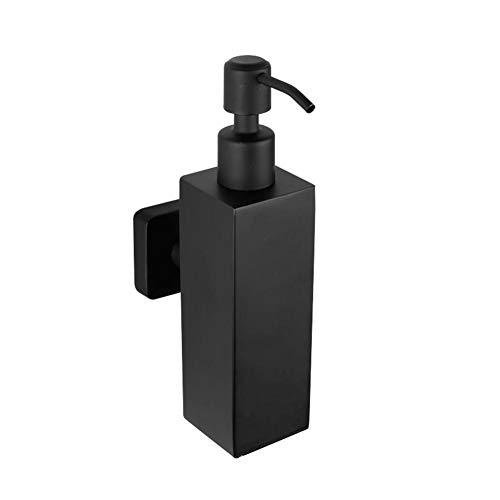 Wovemster 200ML Edelstahl schwarz Seifenspender Händedesinfektionsmittel Flasche, manuelle Bad Seifenspender Shampoo Flasche Wand Seifenspender